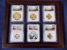 2015 CHINA  5 GOLD PANDA 1 SILVER, 6 COINS SET NGC MS 70 EARLY RELEASE