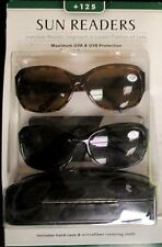 Icon Eyewear +125 Sun Readers Reading Glasses 2 pack with Case Womens