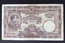 Belgique - Très Joli billet de 100 Francs du  27-03-1926