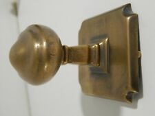 Original large Late Victorian / Edwardian Bronze Oval Centre Door Pull Knob