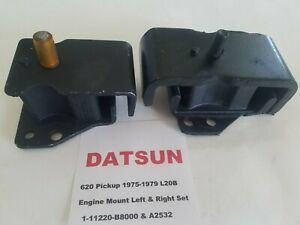 Front Engine Mount set of (2) fits Datsun L20B 620 Pickup 75-79 Left & Right