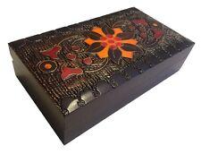 Satin Jewelry Box Polish Handmade Decorative Box Linden Wood Keepsake