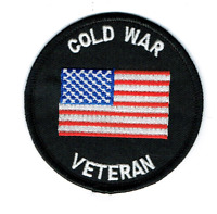 """US MILITARY """"COLD WAR VETERAN"""" PATCH  Iron / Sew-on 3 inch patch"""