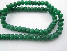 1 filo in radice di smeraldo stondato di 6x4 mm