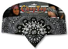 Black White Rhinestones Paisley Chop Top Bandanna Head Wrap Sweatband Headband