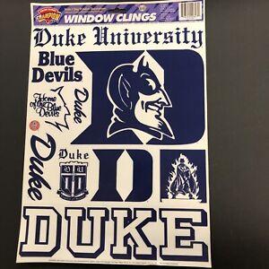 "Duke University 11.75"" x 17"" Window Clings Decal Vintage 1996 Champion Series"
