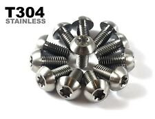 12 Pack Rust Proof Stainless Steel M5x10mm Brake Disc Rotor Bolts