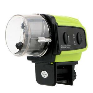 Home Aquarium Food Portable fish timer plastic digital Automatic Display Feeder