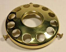 """New 3 1/4"""" Fitter Solid Brass Screw On Uno Shade Holder, Polished & Lacq. #SH727"""