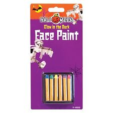 Halloween UV Neon Glow In The Dark Face Paint - 6 Piece