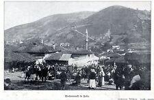 Wochenmarkt in Foca *  Bilddokument von 1908