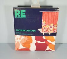 Room Essentials Fabric Vine Shower Curtain (72 x 72) (Pink Floral) NEW