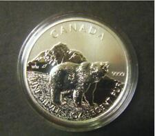 2011 Canada $5 Grizzly Bear Wild Life series 1oz .9999 Fine Silver Bullion Coin