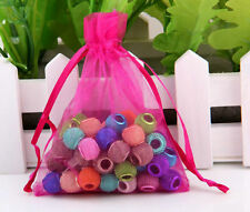 20/100pcs Luxury Organza Gift Bag Jewelry Packaging Pouch Wedding Favor Charms