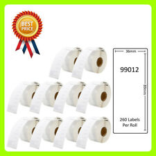 10 Rolls 99012 Labels Compatible for Dymo/Seiko 36 x 89mm 260 labels per roll
