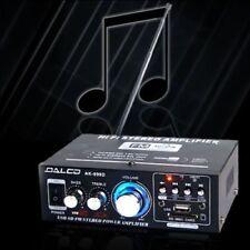 AMPLIFICATORE AUDIO STEREO RGB 12V 220V AUTO CASA USB SD MMC MP3 RADIO FM AK698D