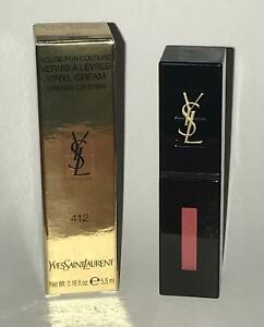YSL VINYL CREAM LIP STAIN,412 Rose Mix, NIB
