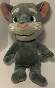 """Dragon-i Toy Recording Talking Tom and Friends Plush Kitty Cat Gray 10"""""""