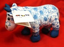 2000 Westland Giftware Blue & White Cow Parade Plush Stuffed Animal CHINA COW
