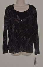 """Impressions Black Sparkled 2 In 1 Combo L Bust 42"""" Length 25"""" NWT"""