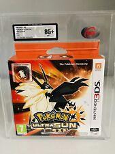 Pokemon Ultra Sun Nintendo Ds Fan Edtion Steelbook Graded 85+ NM Via Ukg