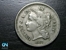 1867 3 Cent Nickel Piece  --  MAKE US AN OFFER!  #B7208