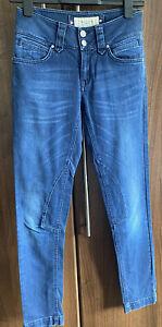 Karen Millen UK 8 Mid Rise Dark Blue Stretch Denim Jeans