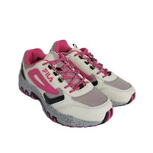 FILA Trail Sneakers Womens 8 M Reminder Pink Tennis Shoes Athletic Activewear