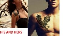 His and Hers Temporary Tattoo Eagle Body Art Waterproof