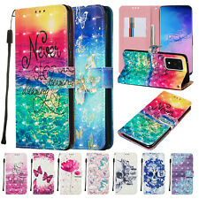 For Samsung Galaxy S20 Plus/Ultra Pattern Leather Wallet Stand Phone Case Cover