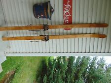 New listing vintage/antique skis 78 long chalet decor nice # 7845