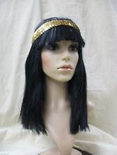 Cleopatra Wig w/ Headband Egyptian Queen Nile Ancient Mummy Princess Egypt Isis