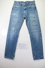 Levi's 501 Destroyed (Cod. Y1562) Tg.47 W33 L36 jeans usato Vita Alta vintage