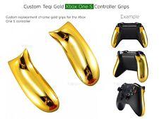 Gold Chrome Xbox One S custom Controller Shiny pièces Grip/S Arrière Poignées/panneau