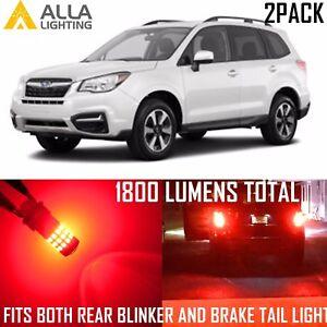Alla Lighting 39-LED Brake Tail Turn Signal Light Blinker Red Bulbs for Subaru