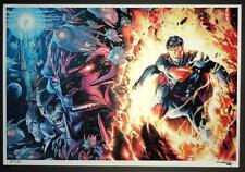 JIM LEE & ALEX SINCLAIR - SUPERMAN UNCHAINED METALLIC ART PRINT SDCC 2015 S&N 20