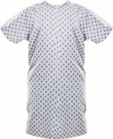 Hospital Patient Gown Medical Exam 1 Pack Blue Diamond Back Tie by Utopia Care