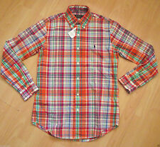 Ralph Lauren Men's Check Button Down Casual Shirts & Tops ,no Multipack