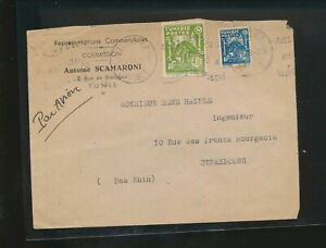 LM85635 Tunisia 1948 to Strasbourg air mail good cover used