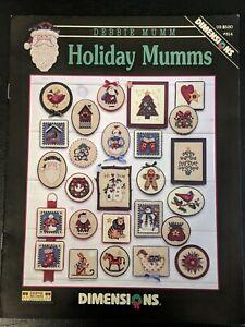 Dimensions 314 Debbie Mumm HOLIDAY MUMMS Cross Stitch Charts SANTA Snowman 2000