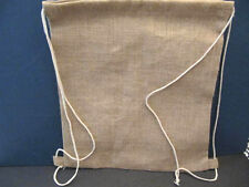 Natural Jute Draw String Backpack Drawstring Cinch Beach Gym Tote Bag Back Pack