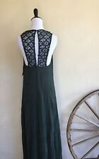 ZARA Special Collection Green Maxi Dress Lace Sleeveless Party S NEW w/ Tags!!