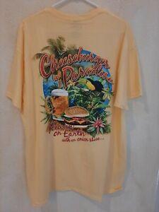 Margaritaville Cheeseburger in Paradise Mens T-Shirt S/S Sz XL - NWT