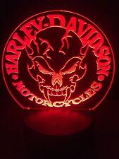 Harley Davidson Demon Led Light Sign Multi Color Display