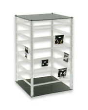 Acrylic Rotating Earring Display Showroom Revolving Stand Holds 96 Cards