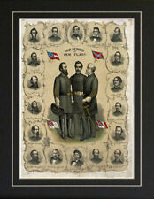 Civil War Confederate Generals Our Heroes Lithograph reproduction