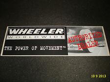 1 AUTHENTIC WHEELER WORLDWIDE AUTHORIZED DEALER STICKER / DECAL / AUFKLEBER