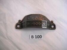 ANTIQUE EASTLAKE CAST IRON BIN PULL 1869