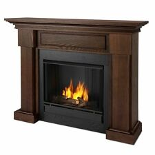 Real Flame 7910-CO - Hillcrest Ventless Gel Fuel Fireplace in Chestnut Oak NEW