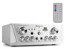 SkyTronic AV420S - Amplificateur karaoké FM/USB/SD - Argent